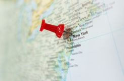 new-york-map-us-east-coast-red-tack-42920526